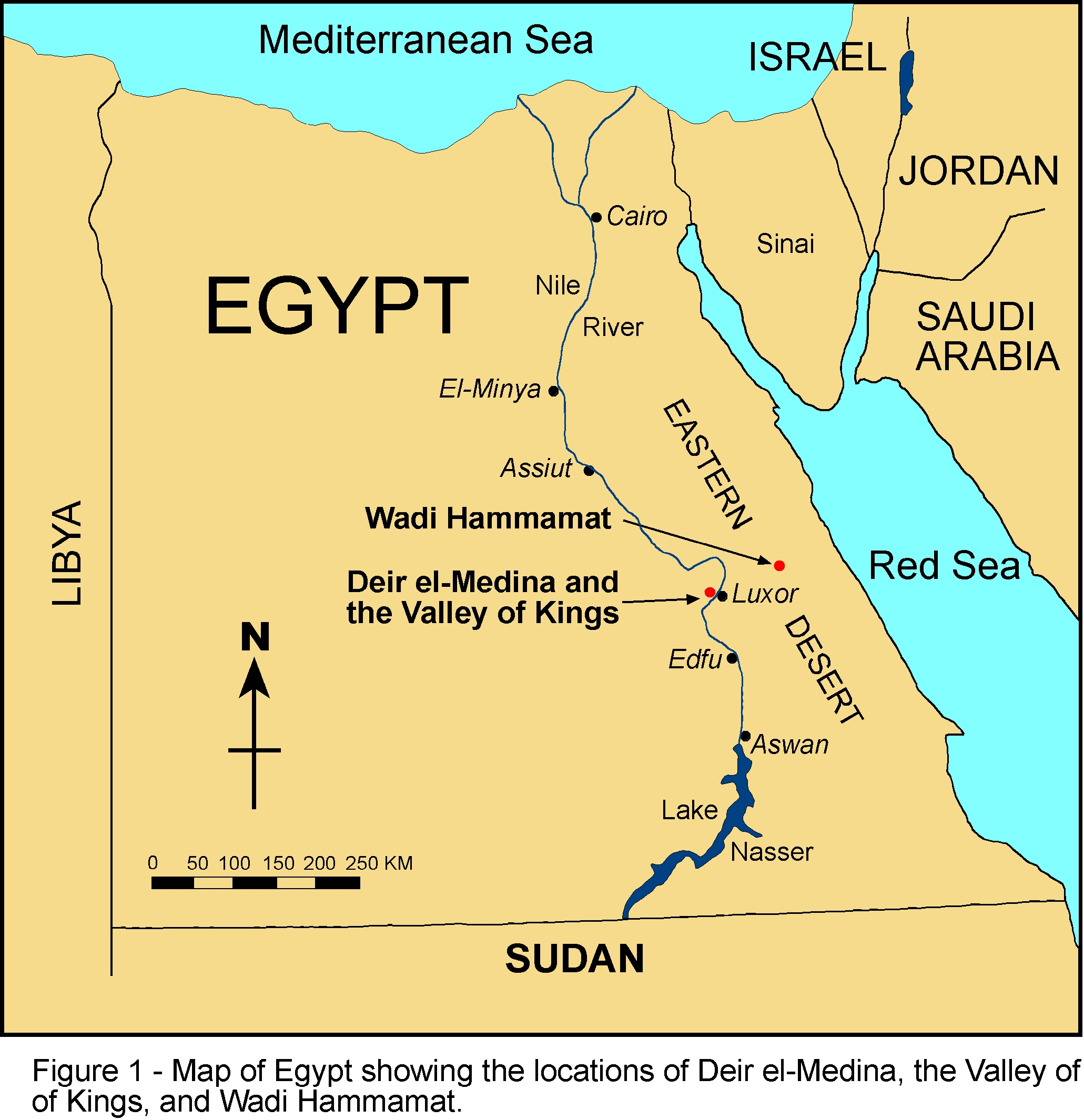 RMSTitans Trips Ancient Egypt Page - Egypt interactive map
