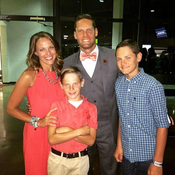 Matt Frazier pictured with his wife Nicole and sons, Bryce, and Cooper.