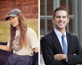 Courtney Juen and Greg Lucas are the Jenks High School September Seniors of the Month!
