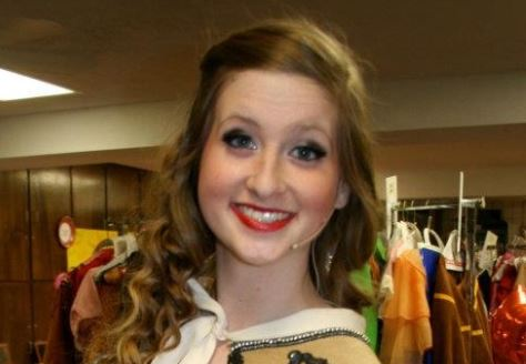 Madi in costume for one of her many performances during her JHS career.