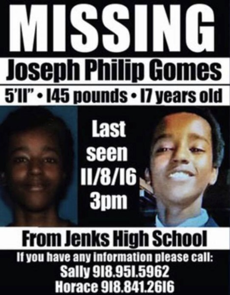 Missing Joseph Philip Gomes
