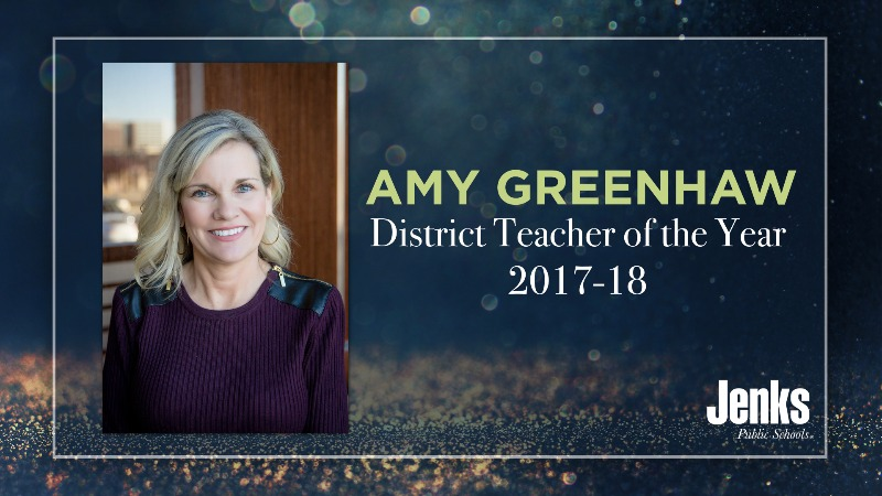 Amy Greenhaw, Special Education English teacher at Jenks High School, has been teaching in the District for 16 years.