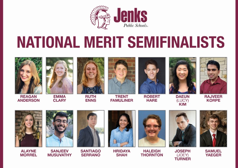Jenks High School has boasted 10 or more National Merit Semifinalists in eight of the last 10 years.
