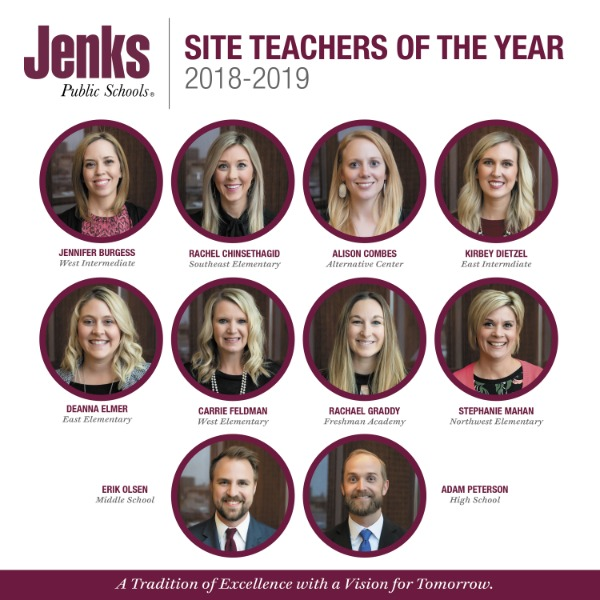 These outstanding educators are in the running for the title of District Teacher of the Year. The winner will be announced in the Spring of 2019.