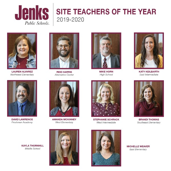 One of these 10 Site Teachers of the Year will become the JPS District Teacher of the Year in an announcement in March.