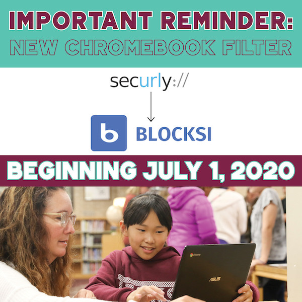 JPS will move from Securly to Blocksi on July 1, 2020. Blocksi will become the new filter for all district Chromebooks.